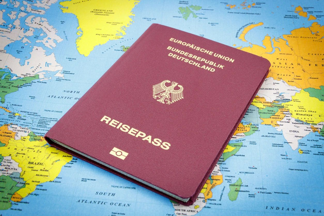 A passport representing our German citizenship attorney services