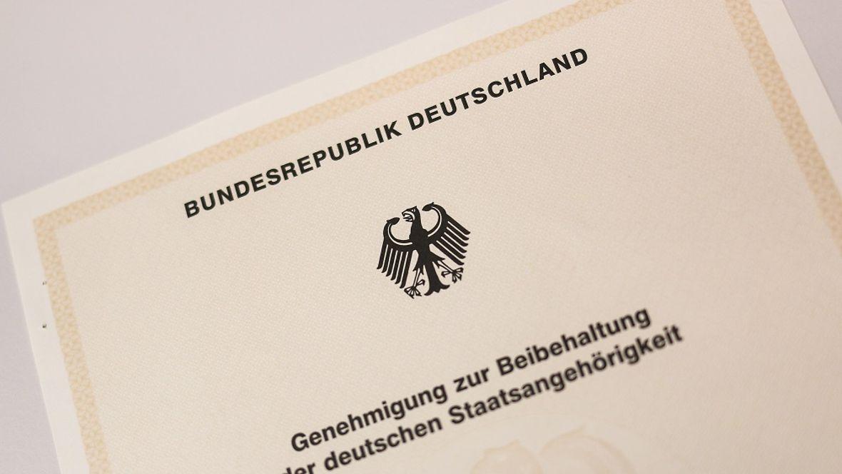 A German citizenship retention certificate